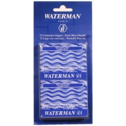 Cartouches longues bleues Waterman 32U
