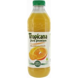 Tropicana pur jus d'orange sans pulpe 1L