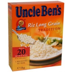 Riz long grain étuvé Uncle Ben s - vrac cuisson 20mn 1Kg