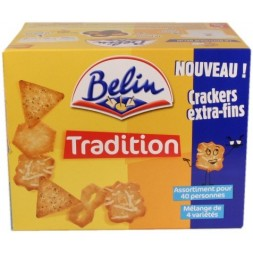 Crackers Tradition - assortiment salé Belin - grande boîte 720g