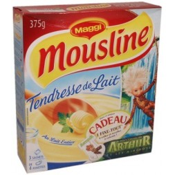 Mousline Milk Tenderness mashed potatoes - 3 sachets 125g 375g