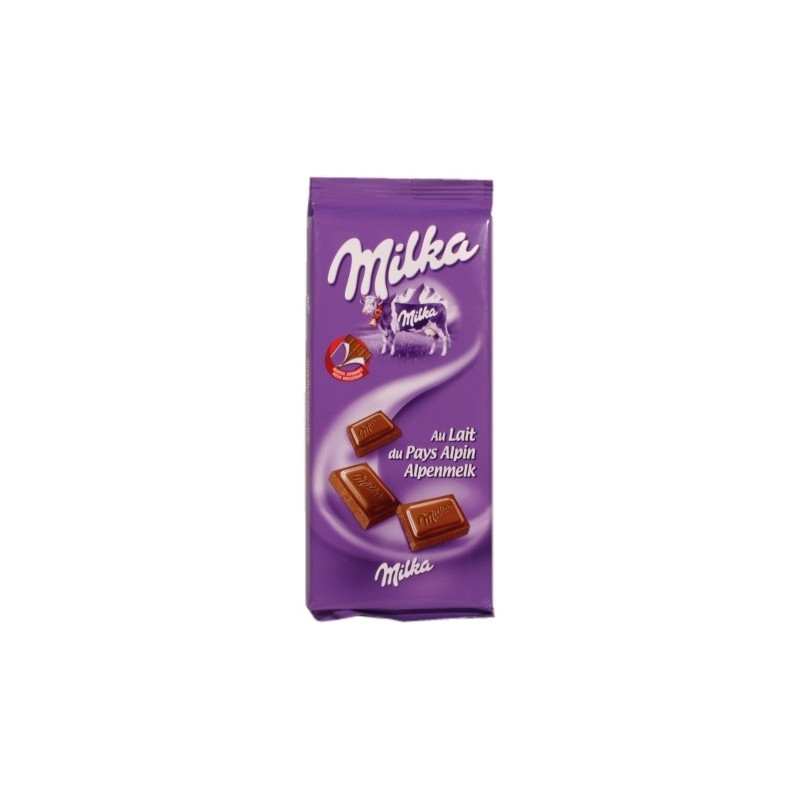 Milka with Milk from the Alpine Country Cocoa: 30% 100g