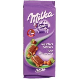 Milka with milk and whole hazelnuts Cocoa: 30% 100g
