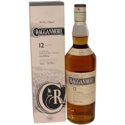 Cragganmore Highlands Speyside 40° 12 ans single Malt 0,7L