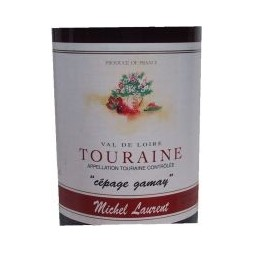 Touraine  cépage Gamay  Michel Laurent 2005 rouge 0,75L