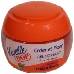 Gel Vivelle Méga-Fixant  fixation extra-forte  rouge  - pot 150ml