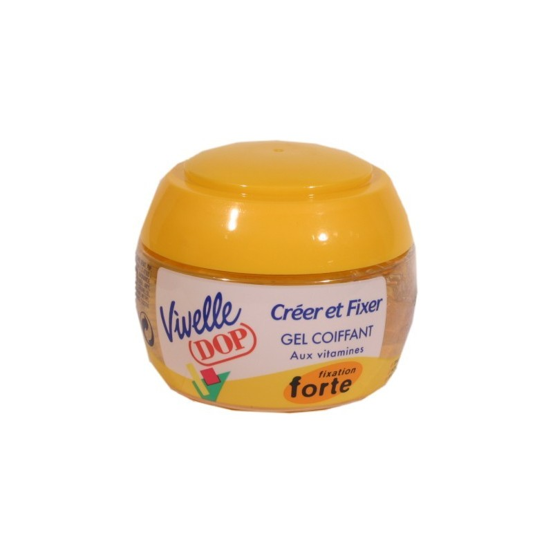 Gel Vivelle Fixant fixation forte  jaune  - pot 150ml