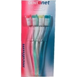 Brosses à dents Dentanet Pack Family Medium - 4 couleurs assortis 4U