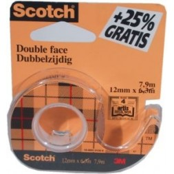 Ruban adhésif double face Scotch 12mm x 6,3m 1U