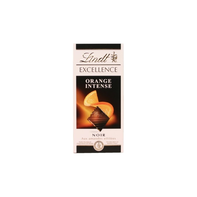 Lindt Excellence Noir Orange Intense aux amandes effil