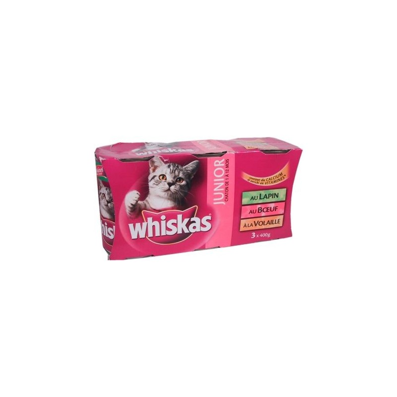 Whiskas Junior lapin-boeuf-volaille chatons de 1