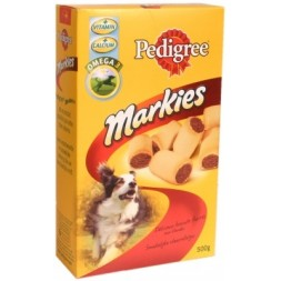 Markies Pedigree Biscuits fourrés aux viandes calcium et vitamines 500g