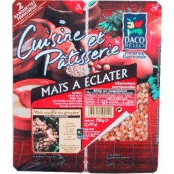 Maïs à eclater (pop corn) 2x125g 250g