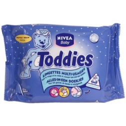 Lingettes  multi-usages Toddies Nivea Baby 60U