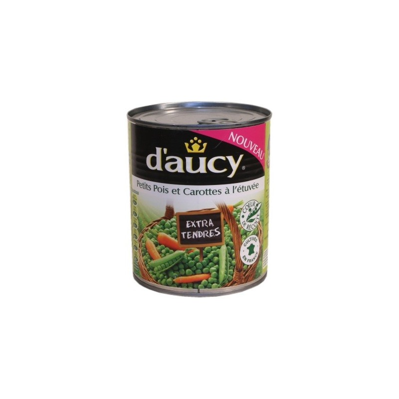 Extra fine peas and young carrots D Aucy 800g