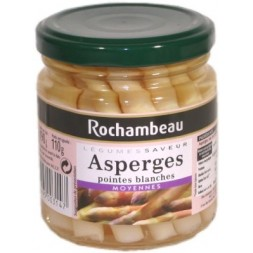 Pointes d asperges blanches moyennes Rochambeau - petit bocal 190g