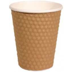 Double-walled cardboard cups for hot drinks 35cl - 50 cups