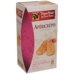 Apéricrêpes with Mozazarella Bacon Cream Filling Traou Mad 60g