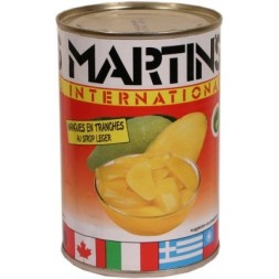 Sliced mangoes in Martin s light syrup 410g