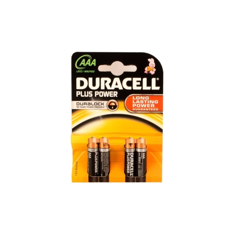 Duracell Plus Power LR03 1,5V alcaline 4U