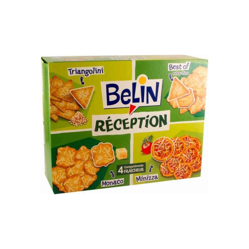Crackers Réception Belin (Monaco-Best Of- Triangolini -Minizza)  380g