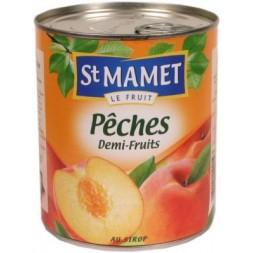 Pêches au sirop St Mamet 850g
