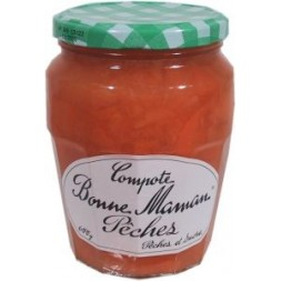 Pêches - compote Bonne Maman - bocal  600g