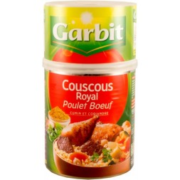 Couscous Royal Poulet & Boeuf Garbit 980g