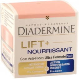 Diadermine Lift Nourrissant Soin de Nuit anti-ride retenseur - pot 50ml