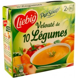 PurSoup Liebig Krem 10 Warzyw - Brik 2x300ml 600ml