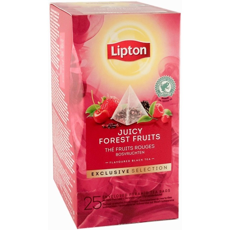 Lipton Tè Nero aromatizzato Fruits rouges - 25 filtri 1,7g