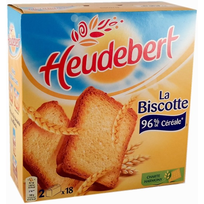 Biscottes Heudebert - 34 tranches 300g