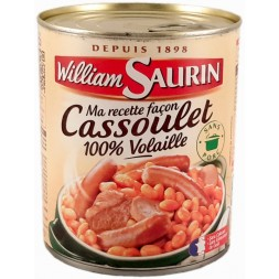100% poultry cassoulet William Saurin 840g