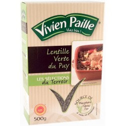 Green lentils from Puy Vivien straw 500g