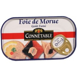 Connétable smoked cod liver 121g