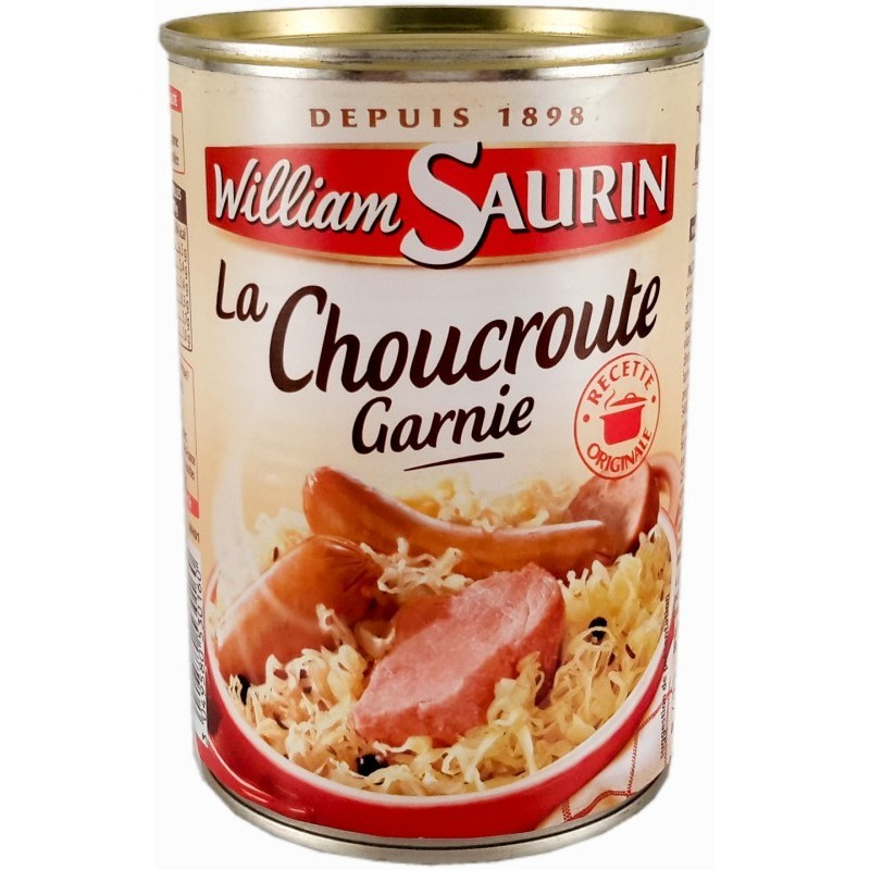 Choucroute garnie William Saurin 400g