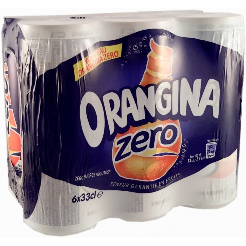 Orangina Light boîtes 6x33cl  5,4kcal 1,98L