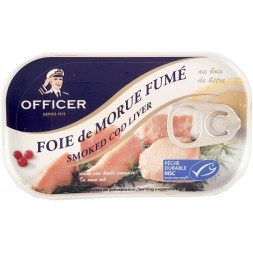 Smoked cod liver Officer 120g