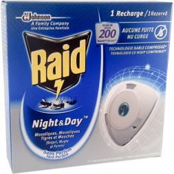 Raid Recharge Diffuseur Insecticide Night & Day 10 jours