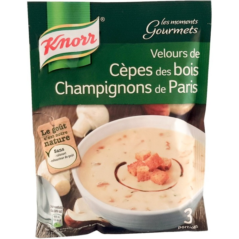 Velours de Cèpes des Bois Champignons de paris Knorr- 3 portions