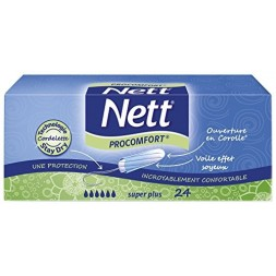 Nett super plus - tampons sans applicateur 24U