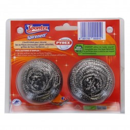 Stainless steel scouring balls - special difficult surfaces Spontex 2U