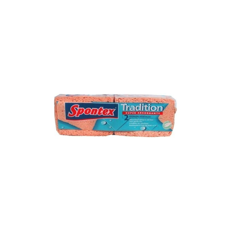 Tradition Super Absorbante - 3 éponges végétales Spontex 2U