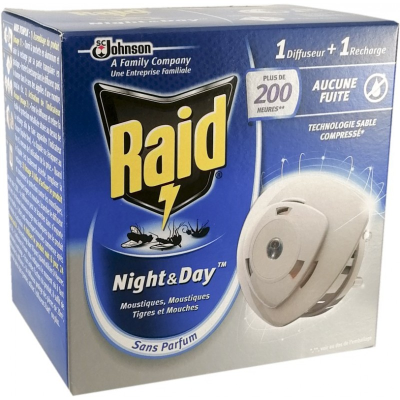 Raid Diffuseur Insecticide Night & Day 10 jours