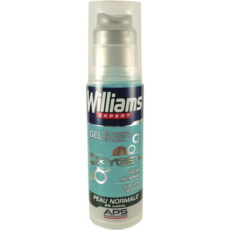 Williams Gel de Rasage Oxygen Fresh Menthol  Peau Normale 150ml