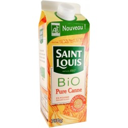 Sucre poudre Pure Canne Roux Label Bio Saint Louis 750g