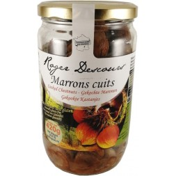 Marrons entiers cuits Roger Descours - bocal 420g