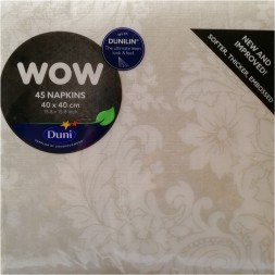 Servilletas papel Dunilin WOW Royal White 40x40cm - 45U