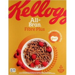 All-Bran Fiber Plus Kellogg s- crusca di cereali dietetici 500g