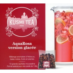Kusmi Tea version glacée Aqua Rosa - 10 grands sachets moussline
